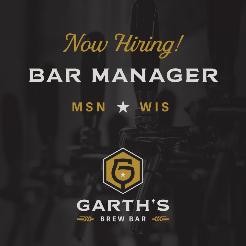 Open Bar Manager Position