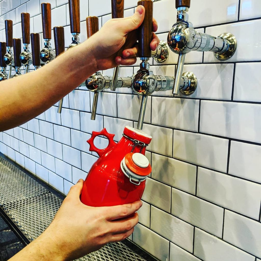 Growler Fills At Garth's Brew Bar
