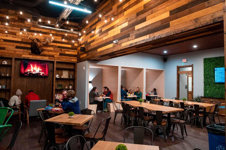 Inside Garth's Brew Bar